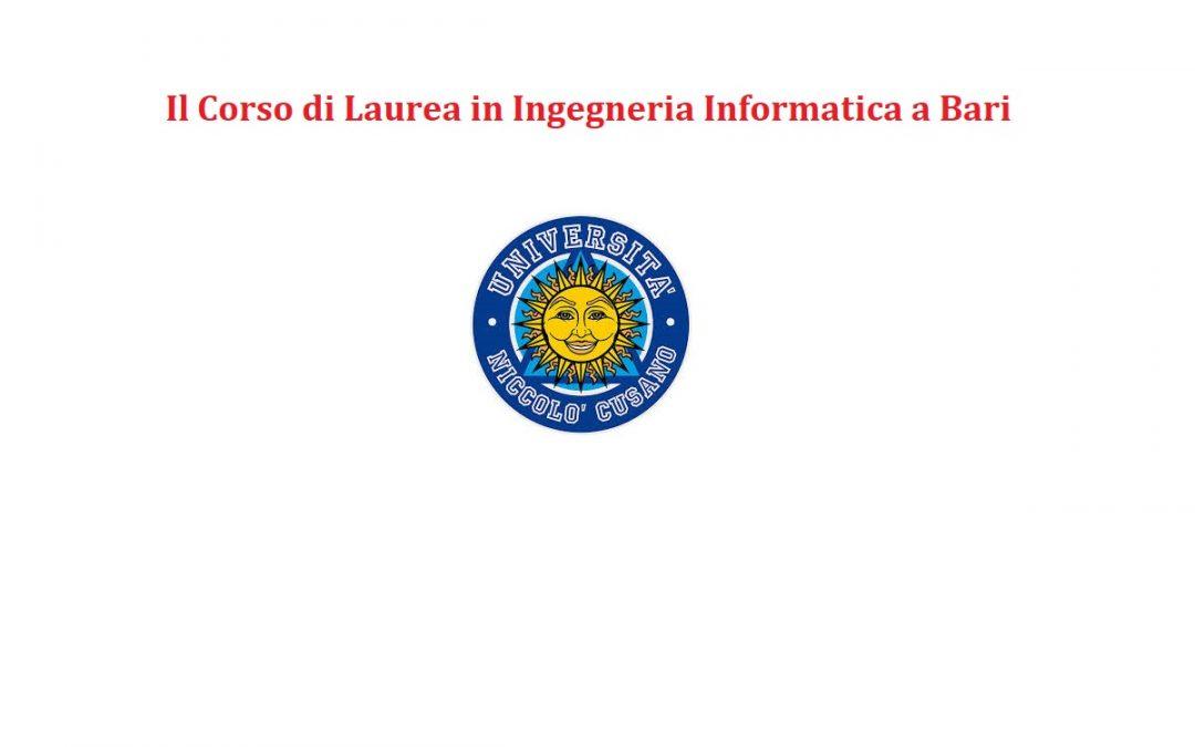 Il Corso di Laurea in Ingegneria Informatica a Bari
