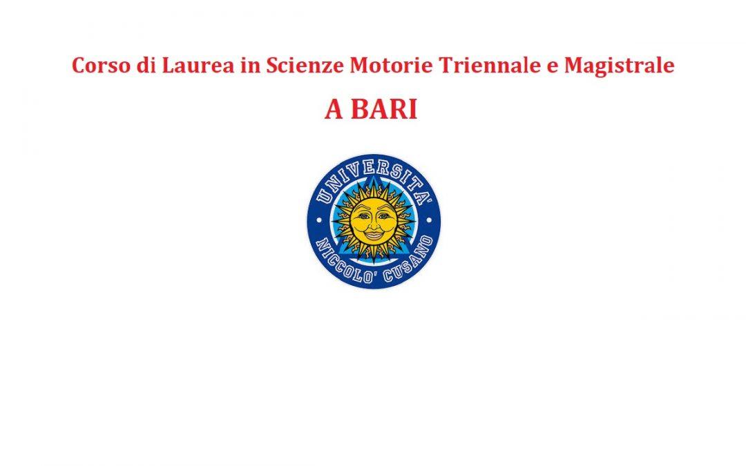 Scienze Motorie a Bari