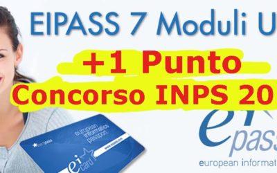 Concorso INPS, EIPASS vale 1 punto!