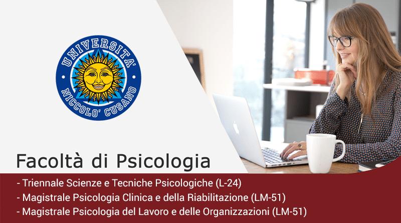 Laurea in Psicologia Unicusano: offerta formativa 2018/2019